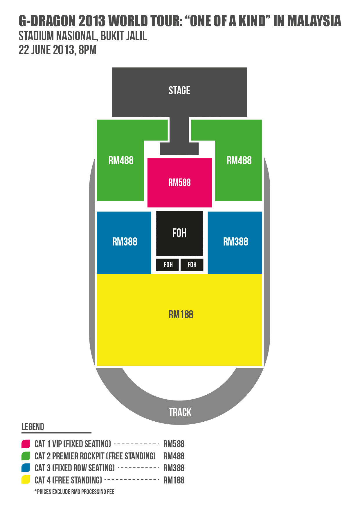 G-DRAGON 2013 WORLD TOUR ONE OF A KIND IN MALAYSIA _Seatmap