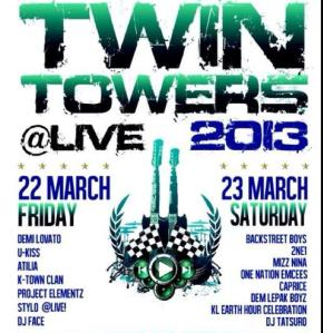 GIVEAWAY: Twin Towers @LIVE 2013