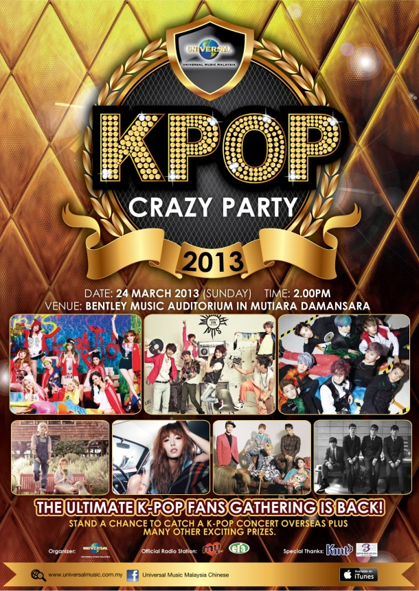 Universal K-Pop Crazy Party 2013 poster