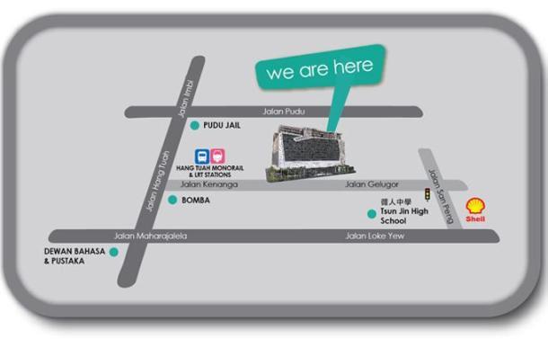 How to go to Kenanga Wholesale City Mall
