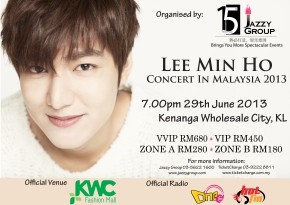 [INFO] Lee MinHo Concert in Malaysia 2013