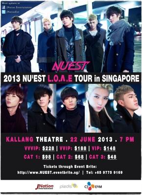 [Update] 2013 NU'EST L.O.Λ.E TOUR INSINGAPORE