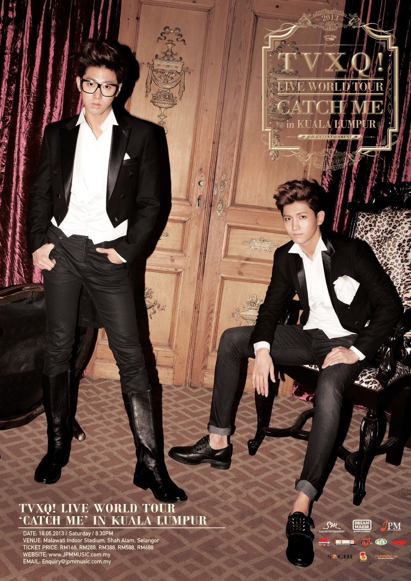 TVXQ Live World Tour Catch Me in KL Poster
