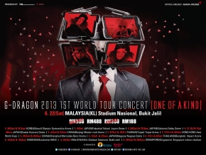 [Ticketing Updates] G-Dragon 2013 1st World Tour: One of a Kind in Malaysia. (New seated category added!)