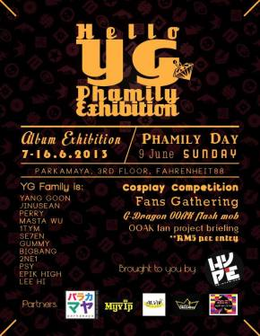 [Event] YG-Hype Malaysia Invites All YG-Family Lovers to its Phamily Day!