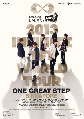 2013 INFINITE 1ST WORLD TOUR   in SINGAPORE presented by Samsung GALAXY Music